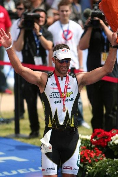 Richard Ussher was happy with his new record at Challenge Roth