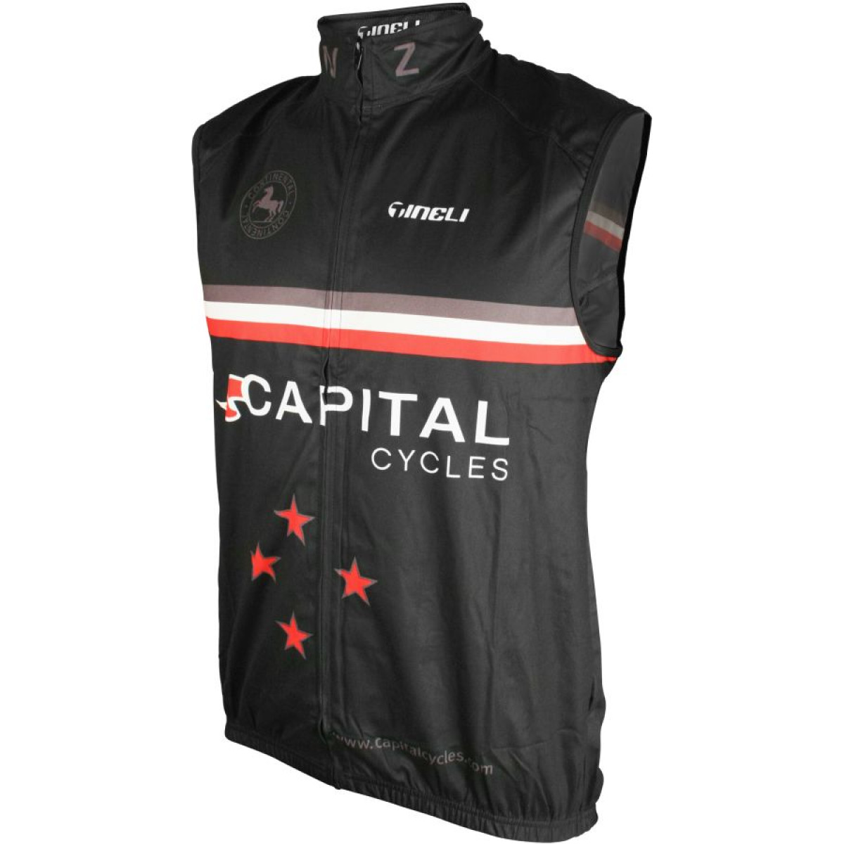 capital vest black Sports Vest (Solid Back)